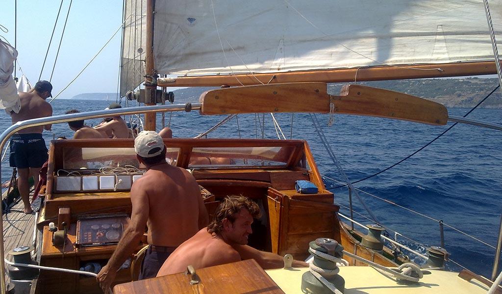A bordo della barca a Vela Cassiopèe